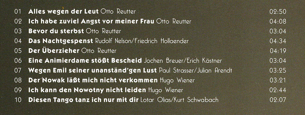 Roswitha Goos - Inhalt meiner Otto Reutter & Co. CD