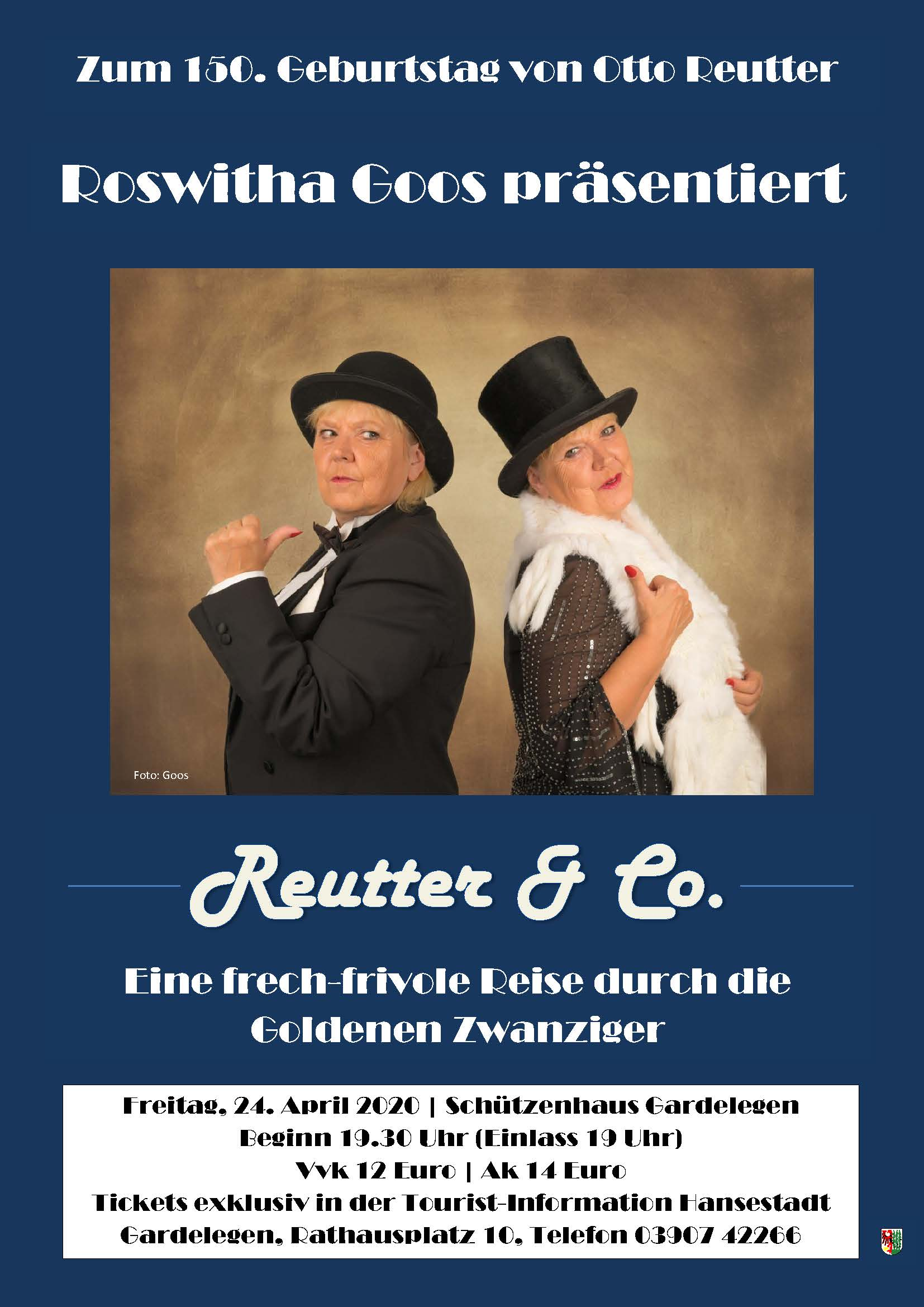 Reutter & Co - eine frech-frivole Reise durch die goldenen Zwanziger